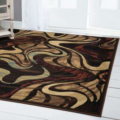 Catalina Black 1 ft. 9 in. x 6 ft. 9 in. Indoor Runner Rug