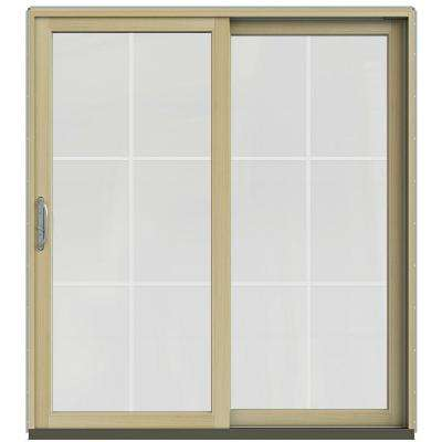 71.25 in. x 79.5 in. W-2500 Arctic Silver Prehung Left-Hand Sliding 6 Lite Pine Patio Door with Unfinished Interior