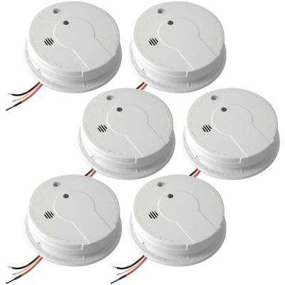 Hardwire 120-Volt Inter Connectable Smoke Alarm with Battery Backup (6-Pack)