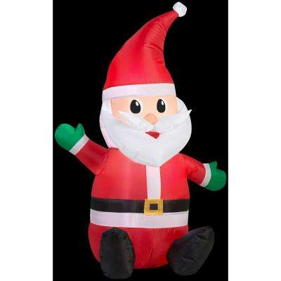 28.74 in. L x 21.26 in. D x 42.13 in. H Seated Santa with Hat