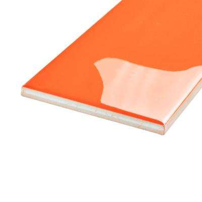 Park Slope Subway Tangerine Orange 3 in. x 6 in. Ceramic Wall Tile (19.18 sq. ft. / case)