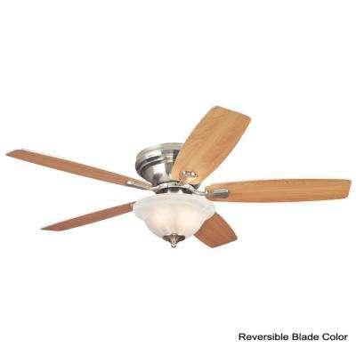 Sumter LED 52 in. LED Brushed Nickel Ceiling Fan
