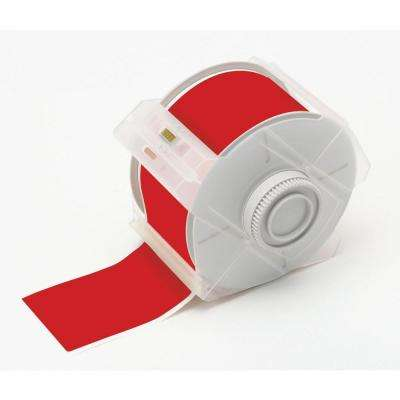 B569 4 in. x 100 ft. Polyester Red Tape