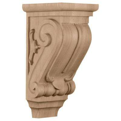 5 in. x 5 in. x 10 in. Cherry Small Classical Corbel