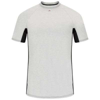 EXCEL FR Men's Grey Short Sleeve Flame Resistant Two-T1 Base Layer
