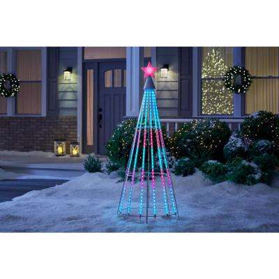 63 in. Show Tree with Multi-Color LED Light