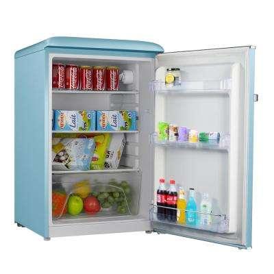 4.4 cu. ft. Retro Mini Refrigerator Single Door Fridge Only in Blue
