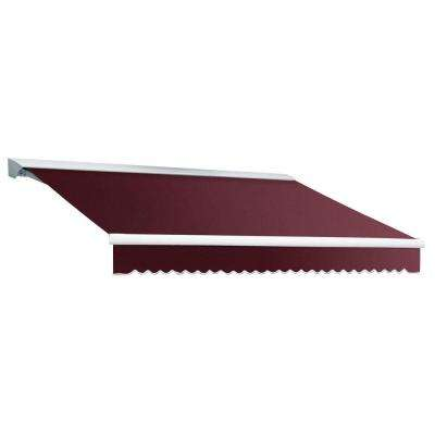14 ft. DESTIN EX Model Left Motor Retractable with Hood Awning (120 in. Projection) in Burgundy