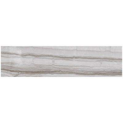 VitaElegante Grigio 6 in. x 24 in. Porcelain Floor and Wall Tile (14.53 sq. ft. / case)