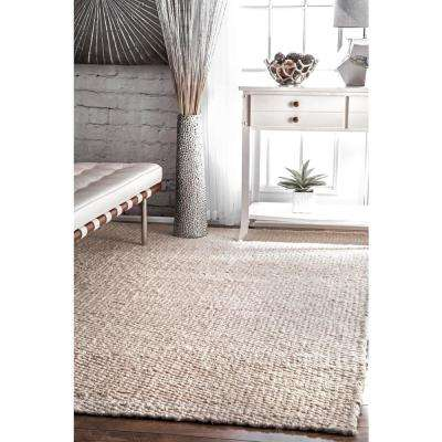 Hailey Jute Off White 4 ft. x 6 ft. Area Rug