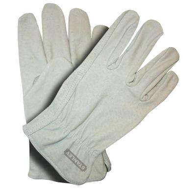 Large Gray Pigskin Leather Gloves (2-Pack)