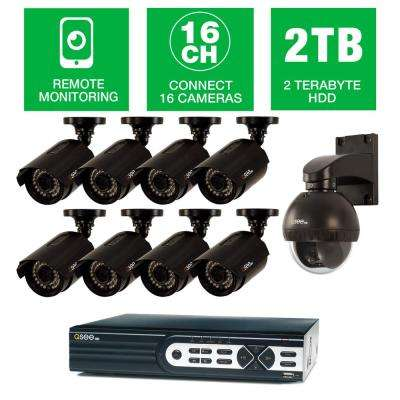 HeritageHD Series Wired 16-CH HD 2TB Video Surveillance System with (8) 1080p Bullet Cameras and 1-Pan/Tilt 720p Camera