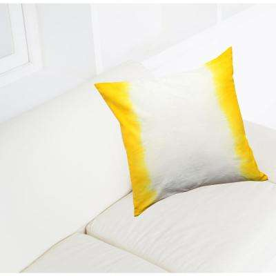 A1HC Yellow Ombre Pillow, 100% Cotton, 18 in. x 18 in. Decorative Pillow