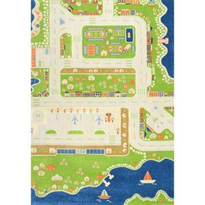 Coastal City Green 5 ft. x 7 ft. 5 in. Area Rug