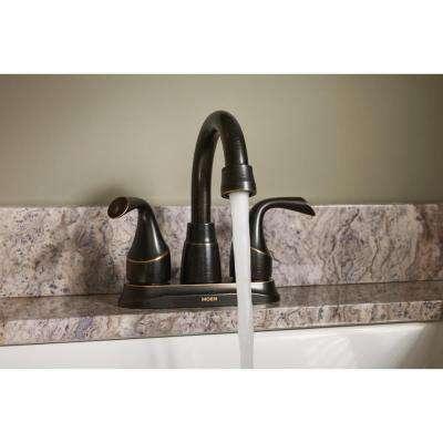 Idora 4 in. Centerset 2-Handle Bathroom Faucet in Mediterranean Bronze (2-Pack)