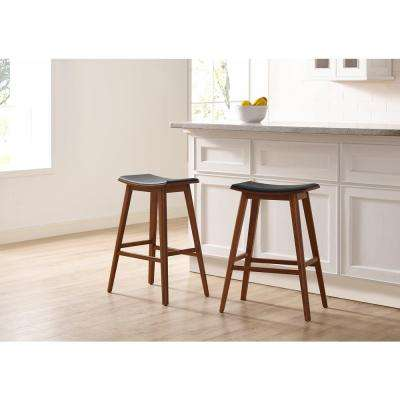 Terra 26 in. Counter Stool 100% Solid Exotic Bamboo with Molded Polyurethane Seat (Set of 2 Counter Stools included)