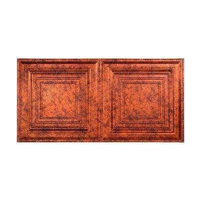 Traditional 3 - 2 ft. x 4 ft. Glue-up Ceiling Tile in Moonstone Copper