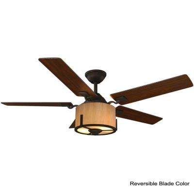 Freyton 52 in. LED Oil Rubbed Bronze Ceiling Fan