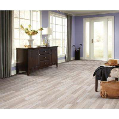 Oak Strip Washed Grey Residential Vinyl Sheet, Sold by 12 ft. Wide x Custom Length