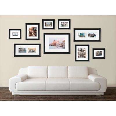 9-Opening 8 in. x 10 in. Matted Picture Frame Set