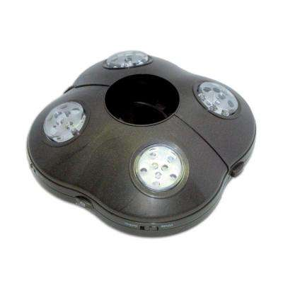 Outdoor Bronze LED Umbrella Light