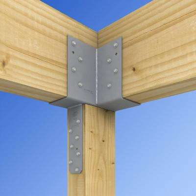 ECCLRQ L-Shape End Column Cap for 6x Post, 4x Beams w/ SDS Screws, Skewed Right