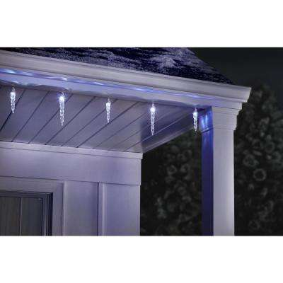 12.5 ft. 12-Light Christmas Synchro Icicle String Light Set