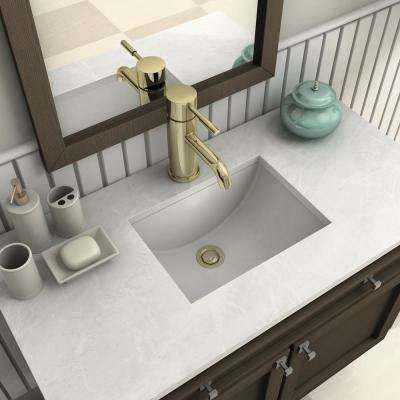 Aloha Single Hole Single-Handle Bathroom Faucet in Polished Gold