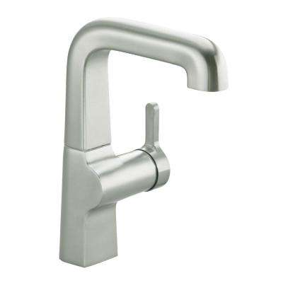 Evoke Secondary Single-Handle Bar Faucet in Vibrant Stainless Steel