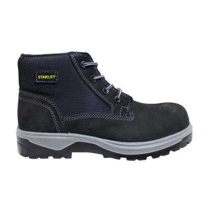 Incline Men Black Leather Composite Toe Work Boot