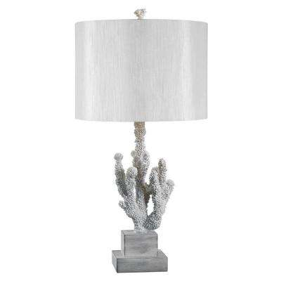 Coral 28 in. White Table Lamp