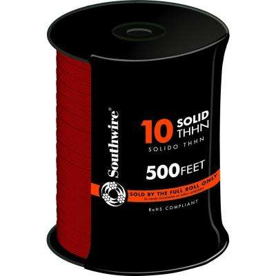 500 ft. 10 Red Solid THHN Wire