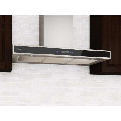 36 in. 400 CFM Convertible Wall-Mounted Range Hood with LED Lights in Stainless Steel