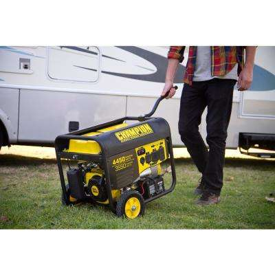 3550-Watt Gasoline Powered Push Start Portable Generator with Champion 224 cc Engine