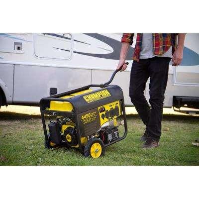 3550-Watt Gasoline Powered Push Start Portable Generator with Champion 224 cc Engine