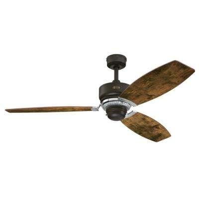 Thurlow 54 in. Weathered Bronze Ceiling Fan