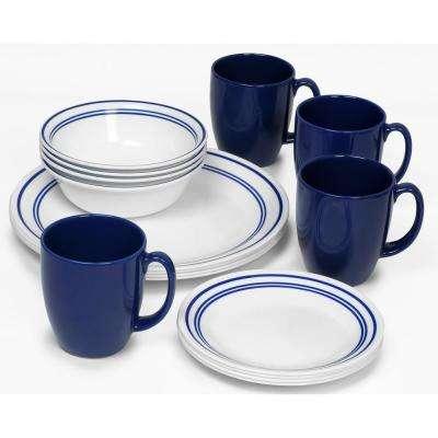 Classic 16-Piece Classic Cafe Blue Dinnerware Set