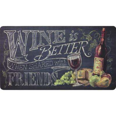 Wine 20 in. x 36 in. Kitchen Mat