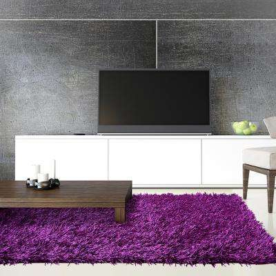 Electric Ave Purple 8 ft. x 10 ft. Area Rug