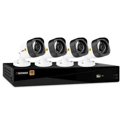 8-Channel HD 1080p 1TB DVR Security System and 4 Bullet Cameras with Web and Mobile Viewing