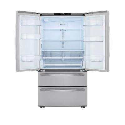 26.9 cu. ft. 4-Door French Door Refrigerator with Internal Water Dispenser in PrintProof Stainless Steel