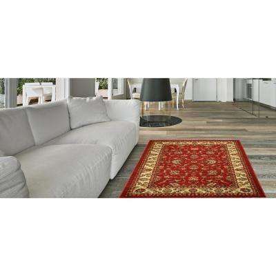 Hamam Collection Red 3 ft. x 5 ft. Area Rug