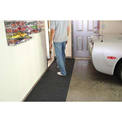 2 ft. 5 in. x 18 ft. Charcoal Grey Commercial Polyester Garage Flooring