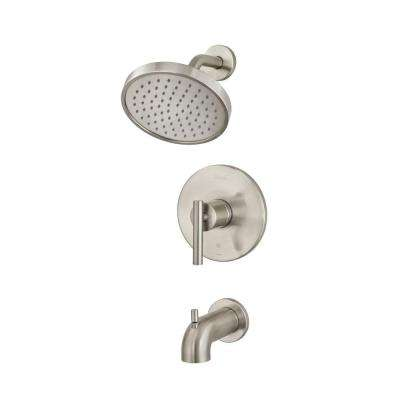 Contempra Single-Handle Tub and Shower Faucet Trim Kit in Brushed Nickel (Valve Not Included)