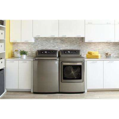 5.0 cu. ft. High-Efficiency Top Load Washer with Steam in Graphite Steel, ENERGY STAR