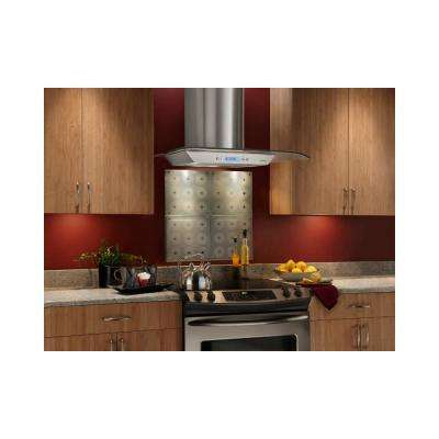 NS5400 29.5 in. Bent Glass Convertible Chimney Range Hood in Stainless Steel