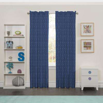 Blackout Set Sail 63 in L Denim Rod Pocket Curtain