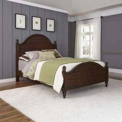 County Comfort Aged Bourbon Queen Bed Frame