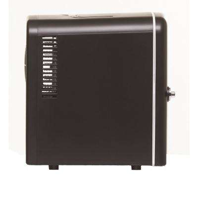 0.3 cu. ft. 6-Can Retro Mini Fridge in Black