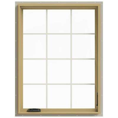 36 in. x 48 in. W-2500 Right-Hand Casement Aluminum Clad Wood Window
